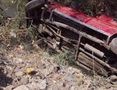 مصرع موظف فى حادث انقلاب سيارة على طريق طنطا - تلا فى المنوفية