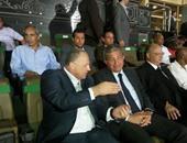 بالصور.. وزير الشباب وأبو ريدة يساندان منتخب الشباب أمام أنجولا