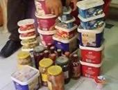 إعدام 4 أطنان مواد غذائية مجهولة المصدر ضبطت بحوزة صاحب مخزن بالظاهر