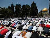 """50 ألف فلسطينى يؤدون صلاة """"الجمعة"""" فى رحاب الأقصى"""