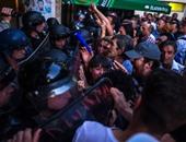 بالصور.. مظاهرات مناهضة للحكومة بالعاصمة المقدونية سكوبيى