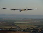 """وصول الطائرة """"سولار امبالس 2"""" إلى مطار البطين فى أبو ظبى"""