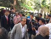 خالد الدرندلى ممثلا عن الأهلى وأحمد مرتضى عن الزمالك فى مؤتمر السوبر