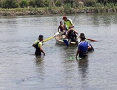 """انتشال جثة عامل غرق أثناء غسيل """"توك توك"""" فى مياه نهر النيل بالوراق"""