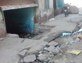 بالصور.. غرق إدارة حسابات أبو تشت التعليمية بقنا فى مياه الصرف الصحى