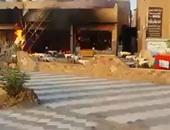 بالفيديو.. حريق هائل بكافيه بالساحة الشعبية بمدينة كفر صقر فى الشرقية