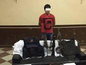القبض على عاطل بحوزته كمية من مخدر الحشيش وسلاح أبيض بالمنوفية
