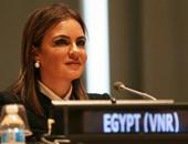وزيرة التعاون الدولى تزور شمال سيناء وتسلم مساعدات عينية لأهالى قرى بئر العبد