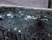 """بالصور.. أهالى """"البحاروة"""" بالشرقية يشكون انتشار مياه الصرف الصحى"""
