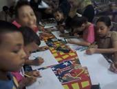 بالصور.. الأطفال يشاركون بورش الفنون التشكيلية بثقافة الأقصر