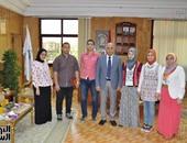 بالصور.. رئيس جامعة كفر الشيخ يكرم أوائل الثانوية العامة