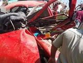 مصرع شخصين وإصابة 2 فى اصطدام قطار بسيارة ملاكى بمزلقان نجع العروبة بقنا