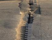 بالصور.. قارئ يرصد كسرا فى فواصل كوبرى أكتوبر باتجاه مدينة نصر