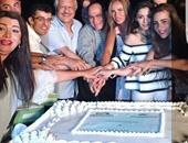 """نيكول سابا تحتفل بانطلاق تصوير """"ولاد تسعة"""" بصورة على أنستجرام"""