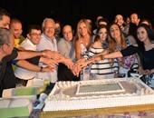 """بالصور.. أسرة مسلسل """"ولاد تسعة"""" تحتفل ببدء تصويره"""
