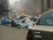 بالفيديو.. مواطنو العصافرة بالإسكندرية يتخلصون من القمامة بالحرق