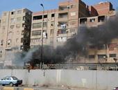 حريق سيارة ملاكى بالمنطقة الرابعة بمدينة السادات بالمنوفية