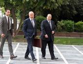 بالصور.. أبو الغيط يصل مقر جامعة الدول العربية لبدء مهام منصبه الجديد