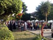 توافد أهالى المنوفية على الحدائق والمتنزهات لقضاء ثانى أيام عيد الفطر