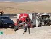 انقلاب سيارة نقل محملة ببراميل تنر على طريق مصر إسكندرية الصحراوى