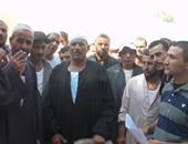وقفة احتجاجية لمزارعين بكفر الدوار بسبب نقص مياه الرى