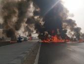 """""""الإخوان"""" يقطعون محور 26 يوليو أعلى منطقة ناهيا"""