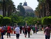 وقفة لطلاب الدراسات العليا بجامعة القاهرة اعتراضا على زيادة المصاريف