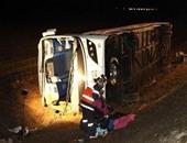 """إصابة 6 أشخاص فى حادث تصادم تريلا بأتوبيس نقل عام بطريق """"الزعفرانة - غارب"""""""