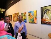 محافظ البحيرة يفتتح معرض الفنانة التشكيلية إيمان سلطان بالقاهرة