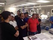 """جهاز المنتخب الوطنى يزور مستشفى القلب بـ""""أسوان"""""""