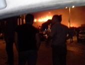 حريق ضخم يلتهم مخازن السلاب بطريق الأوتوستراد