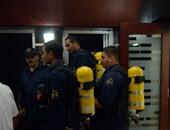 حريق محدود فى مبنى هيئة المترو برمسيس