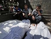 توابيت رمزية لشهداء الصحافة بغزة أمام مقر الأمم المتحدة برام الله