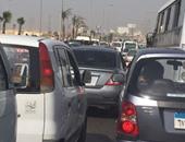 شلل مرورى بسبب كسر ماسورة مياه بنفق أحمد بدوى بمنطقة شبرا