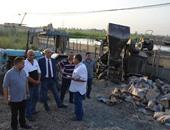 بالصور.. محافظ كفر الشيخ يطارد عمال بناء مخالف على أرض زراعية