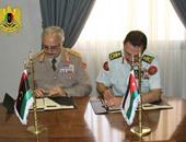 حفتر يوقع مع رئيس الأركان الأردنى مذكرة تفاهم للتعاون فى المجال العسكرى
