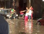 صحافة المواطن: بالصور.. انفجار ماسورة مياه تتسب فى غرق حى مبارك ببورسعيد