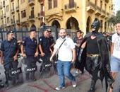 عودة الهدوء لساحة الشهداء فى قلب بيروت بعد تطويق الأمن اللبنانى للمحتجين