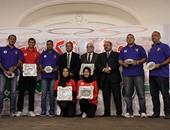 وزير الرياضة يكرم الأبطال المتميزين بمختلف الألعاب الرياضية