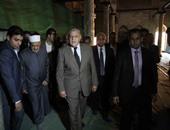 الإمام الأكبر ومحلب يتفقدان أعمال ترميم الجامع الأزهر