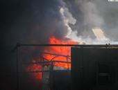 حريق هائل بمخزن للمنظفات فى بنى سويف