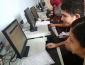 توافد الطلاب على معامل جامعة دمنهور لتسجيل رغباتهم بثانى مراحل التنسيق