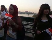 """بالفيديو..أطول """"زغرودة"""" لفتاة فى وقفة للاحتفال بافتتاح قناة السويس الجديدة"""