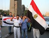 """أمناء شرطة يشاركون تحالف """"شباب الثورة"""" فى احتفالية افتتاح قناة السويس"""
