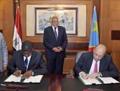 محلب يشهد توقيع 3 اتفاقيات تعاون مع الكونغو قبل توجهه لحفل قناة السويس