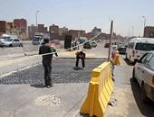 """""""مياه القناة"""" تنهى إصلاح هبوط الجزيرة الوسطى بالشيخ زايد فى الإسماعيلية"""