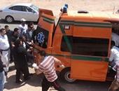 إصابة نقيب و3 مجندين فى انقلاب سيارة شرطة بطريق نوبيع