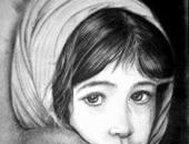 """فنان يشارك """"صحافة المواطن"""" بموهبته فى فن رسم البورتريه"""