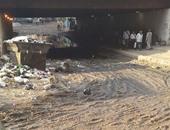 بالصور.. شكاوى من تجمع القمامة ومياه الصرف الصحى أسفل الطريق الدائرى