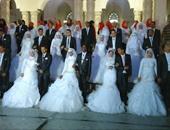 متطوعون ينظمون حفل زفاف جماعى لـ60 عريسًا وعروسًا بشمال سيناء